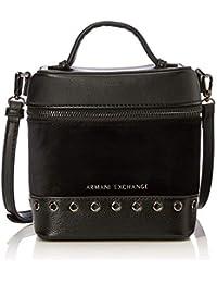 Armani Exchange - Cross-body Bag, Bolsos bandolera Mujer, Negro (Nero), 17.0x12.0x15.0 cm (B x H T)
