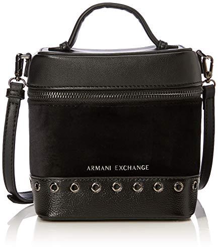 Armani Exchange Damen Cross-Body Bag Umhängetasche, Schwarz (Nero), 17.0x12.0x15.0 cm