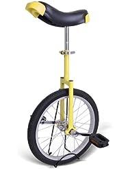 """Jaune 20 """"Monocycle Avec roue Plaqué Chrome (Yellow Unicycle)"""