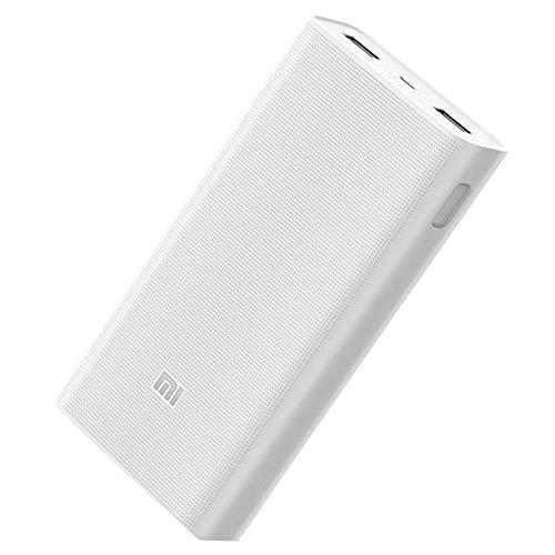 kingromargo Xiaomi Mi Power Bank 20000mAh 2C Cargador QC3.0 Dual USB Salida Banco de batería