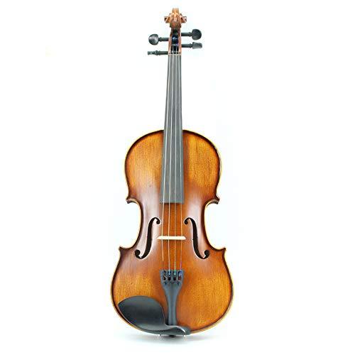 L&Q Violino in Legno Massello, Studenti Principianti Praticano Violino, Accessori in Ebano, Tagliere in Fibra di Carbonio, Violino Fatto A Mano di Alta qualità (3/4)