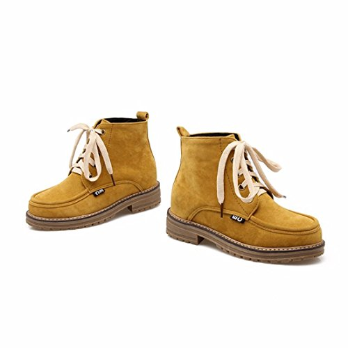 Frosted Martin boots, ladies size boots, student boots Yellow (Terry)