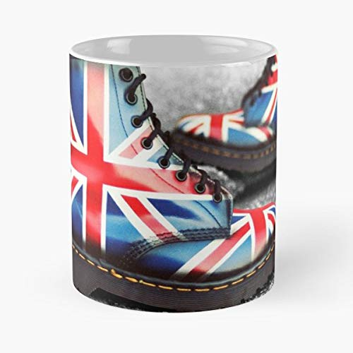 Union Jack Dr Martens Flag Boots Custom Painted United Kingdom 1460 Black - Best 11 oz Kaffee-Becher - Tasse Kaffee Motive -
