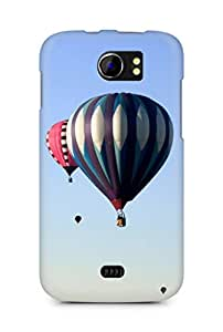 Amez designer printed 3d premium high quality back case cover for Micromax Canvas 2 A110 (Rare scenic hot air balloon)