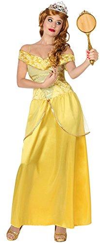 Atosa 28907 - Costume per travestimento da principessa Donna, 46/48, Giallo