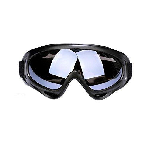 Aolvo Schneebrille für Ski, Snowboard, mit Wind-Widerstand, blendfrei, Linsen, für Skifahren, Motorradfahren, Radfahren, Schneemobil, Winter, Outdoor-Sport, Schutzbrille, grau