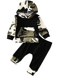 ropa bebe niño otoño invierno 2017 Switchali Infantil recien nacido Bebé Niño Tapas encapuchadas manga larga Camisetas Camuflaje blusas + Pantalones largos Conjuntos de ropa