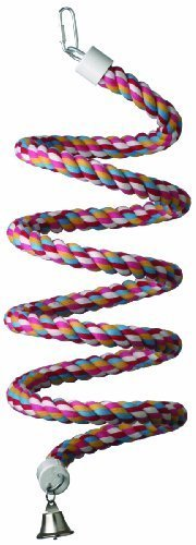Super Bird Creations 9/10-Inch by 96-Inch Rope Bungee Bird Toy, Large by Super Bird Creations -