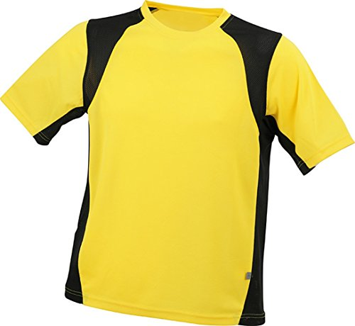 Men's Running-T im digatex-package Yellow/Black