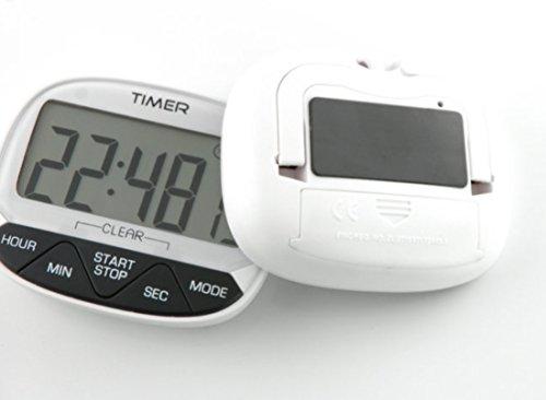 dahanbl 24Stunde Küche Kochen elektronischer Timer Countdown Uhr (weiß) -