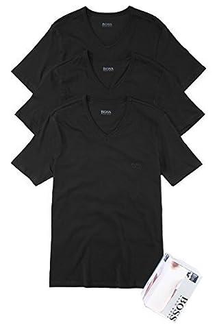 BOSS Hugo Boss Herren 3er Pack T-Shirt Shirt SS VN 3P BM 50236739, Farbe:Schwarz;Größe:L