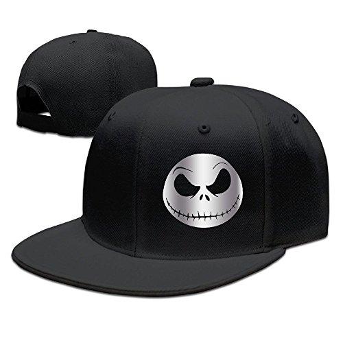 ton Face Nightmare Platinum Style Baseball Snapback Hat Black Black ()