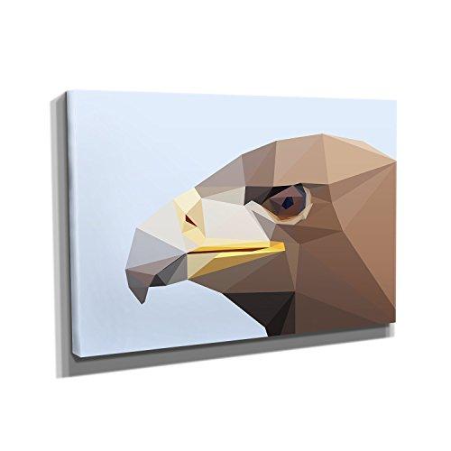 Kostüm Weißkopfseeadler - Nerdinger Poly Adler - Kunstdruck auf Leinwand (30x20 cm) zum Verschönern Ihrer Wohnung. Verschiedene Formate auf Echtholzrahmen. Höchste Qualität.