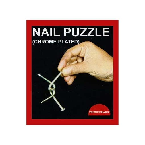 Nail-Puzzle-Chrome-Plated-by-Premium-Magic-Trick