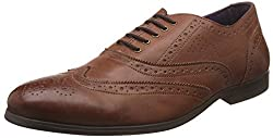 Knotty Derby Mens Bryce Wing Cap Brogue Tan Formal Shoes - 10 UK/India (44 EU)