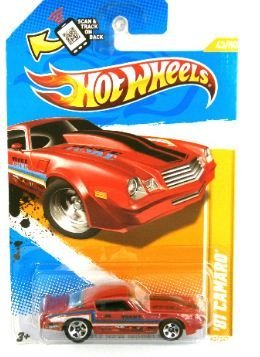 Hot Wheels 2012-043 New Models 43/50 '81 Camaro RED 1:64 Scale SCAN & TRACK Card (Camaro-modell 81)
