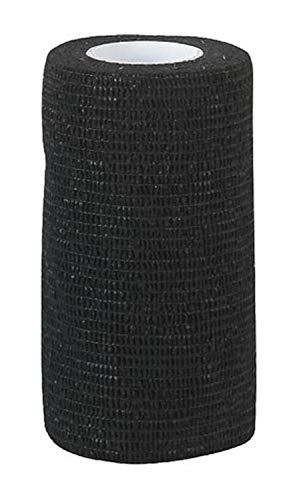 12 Stück Equilastic 10 cm schwarz Bandagen für Pferde selbsthaftende Pferdebandagen Haftbandage elastischer Verband Gelenkbandage flexible Binde selbstklebend Fixierbinde Flexbandage Klauenbandage