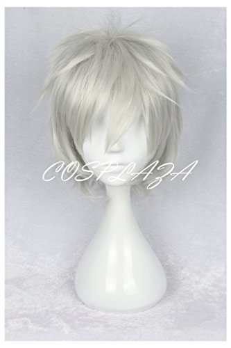 COSPLAZA Perücken Cosplay Wig HUNTER Killua Zoldyck kurz Silber Weiß Anime (Silber Perücke Kurze)