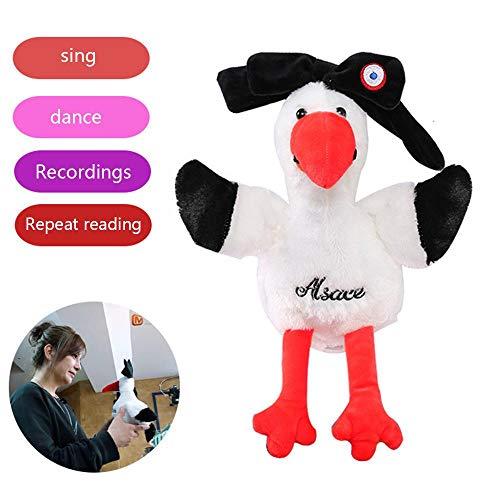 KOBWA Elektrischer Repeater Huhn Plüschtier Spielzeug Stofftiere Aufnahme Huhn Spielzeug Kreative Weihnachten Geburtstag Geschenk für Kinder -