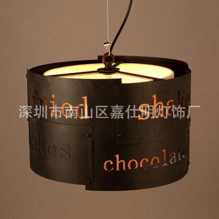 SDKKY Creative LOFT retro café bar Hall clothing store letters of the alphabet lamp mosaic wrought-iron chandelier