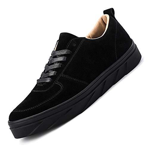 HILOTU Im Freien Beiläufige Turnschuhe Für Männer Breathable Bequeme Turnschuhe-Rutschfeste Plattform-runde Zehen-Art- Und Weisegehende Schuhe (Color : Schwarz, Größe : 39 EU)