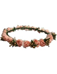 Loops n knots Peach and Golden Tiara for Women