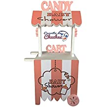 CARRITO DE CHUCHES Candy Cart Baby Shower Rosa. para Decorar. Medidas 132CMS(Alto
