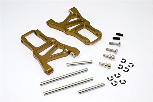 HPI Sprint 2 Tuning Teile Aluminium Front Arm With Screws & Pins & E-Clips - 1Pr Set Golden Black - Eclip-pin