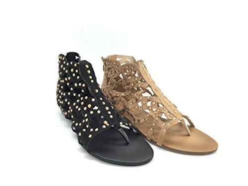 CHIC NANA . Chaussure Femme Mode Sandale, Strass Diamant Fantaisie.