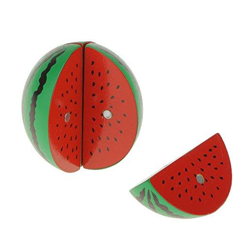 Gazechimp Magnetspiel Kinder Schneiden Lebensmittel / Rolle Spiel / Puppenküche Babyküche Spielzeug / Idea auch Als Geschenk - Wassermelone