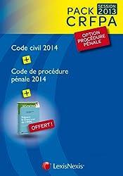 Pack CRFPA Procédure Pénale : Code Civil 2014, Code de procédure pénale 2014, préparer le Grand oral du CRFPA