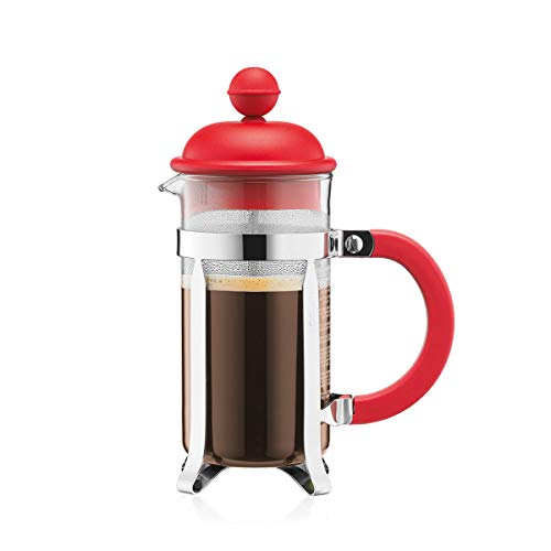 Bodum - 1913-294 - Caffettiera - Cafetière à Piston - 3 Tasses - 0,35 L - Rouge