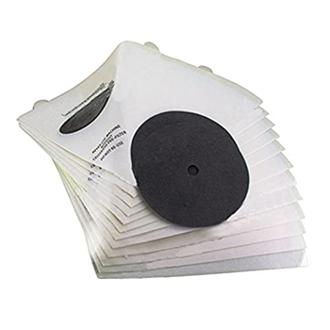SPARES2GO Cone Filters Set for Filter Queen Vacuum Cleaner (Pack of 12)