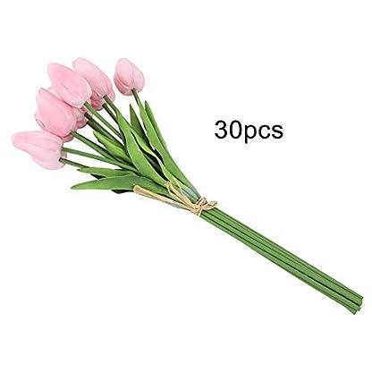 Duokon Ramo de Flores Artificiales de Tulipanes de Piel sintética para Regalo de casa o Boda