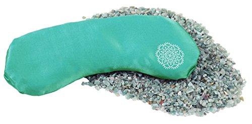 INNER JEWELS Aromatherapie Set JOY, Weiches Augenkissen, Feine Seide mit Halbedelsteinen und Aromamischung, meergrün, Aventurin-Lavendel-Füllung, für Yoga, Entspannung & Meditation, Geschenk Set