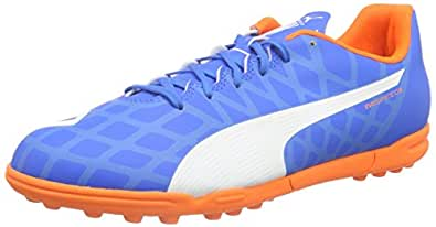 Puma Men's evoSPEED 5.4 TT Electric Blue Lemonade, White and Orange Clown Fish Football Shoes - 7 UK/India (40.5 EU)