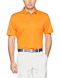 Under Armour Tech Polo Manga Corta, Hombre, Team Orange, Small