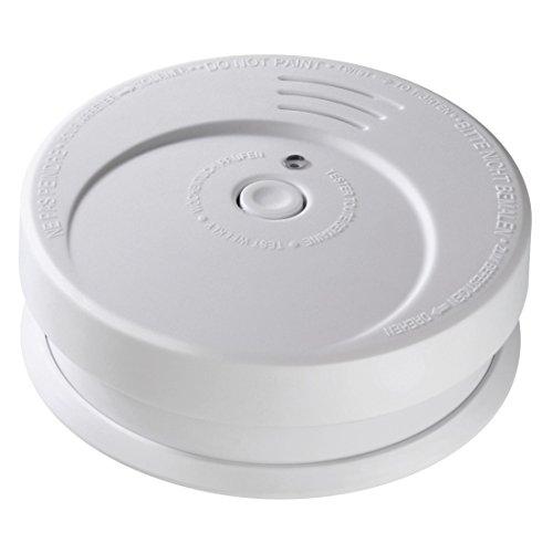 Hama Rauchmelder Feuermelder GS 506G (85 dB Alarm, optischer Sensor, Testtaste, Kontroll-LED, inkl. Batterie, Batteriewarnung, Gerätelebensdauer 10 Jahre) Brandmelder weiß