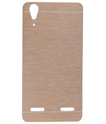 SK LENOVO A6000/A6000PLUS Luxury Metal Motomo Brush Case Cover Aluminum Hard Back Phone Cover COLOUR- SILVER