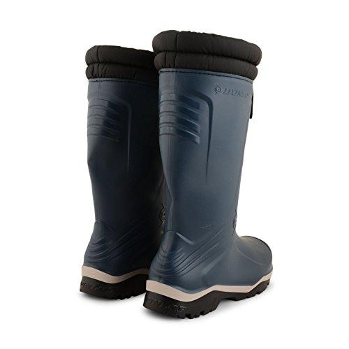 Dunlop Herren/Damen Wellington Blizzard-Gummistiefel mit gepolstertem Kragen, wasserdicht Blau