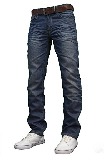 Crosshatch Herren Jeanshose Light Wash