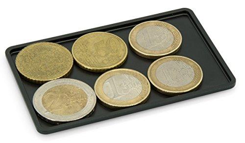SLIMPURO ® Coin Case/CoinCard - Universales Münzfach, Kleingeldfach aus Aluminium für Geldbörsen, Slim Wallets, Kreditkartenetuis, Kartenetuis, Geldbeutel - RFID Blocker 2,5 Mm Clip