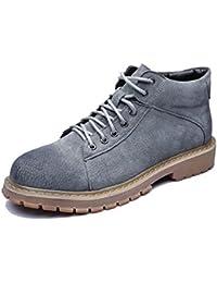 Sunny&Baby Chaussures Pour Hommes Lisse en Cuir Véritable Outsole Low Top Ankle Boot Pour les Messieurs Résistant à L'Abrasion (Color : Blue, Size : 45 EU)