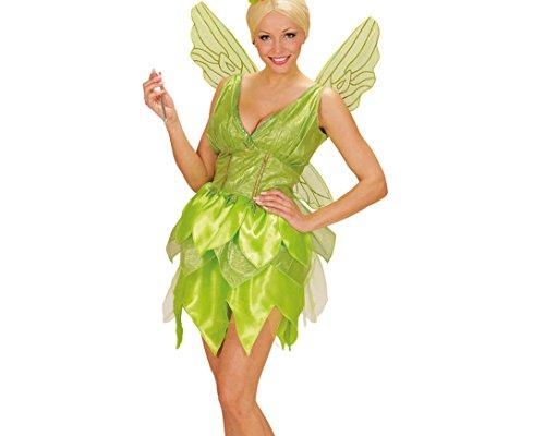 Widmann 02291 - Erwachsenen Kostüm Fantasy Fairy Kleid, Flügel, Gröߟe S, hellgrün