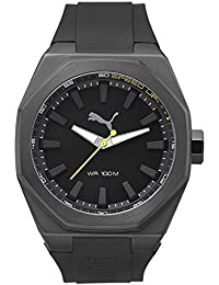 PUMA Victory Men's Quartz Watch with Black Dial Analogue Display and Black Plastic Strap PU104051002
