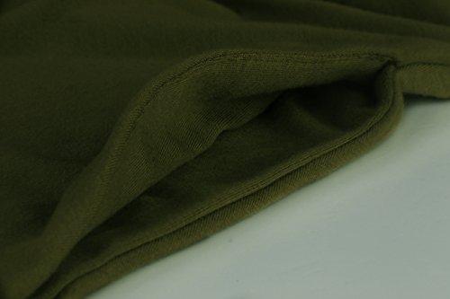 Angerella Donne Estate Spalla Fredda Swing Dress Tank Top T-shirt Vestito con Pocket Army Green