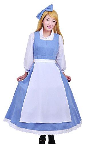Disney Die Schoene und das Biest Belle Halloween Maedchen Cosplay Kostuem Cosplay Frau L Groesse COSSKY