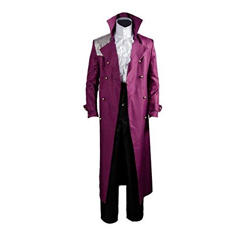 MingoTor Prinz Mantel Cosplay Kostüm Herren XL (Purple Rain Kostüm Prince)
