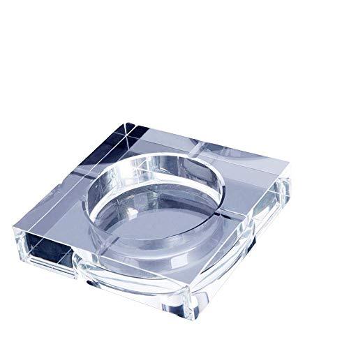 YTHX Aschenbecher Modernes Zuhause/Büro Art Deco Tragbarer Quadratischer Kristallaschenbecher. Modell 10 cmTransparent -