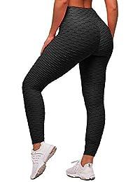 TIMEMEANS Haute Legging avec Poches Yoga Fitness Jogging Leggings de Sport Femme Taille Haute Pantalon de Sport Yoga Fitness